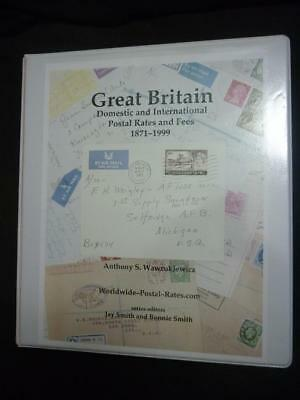 GREAT BRITAIN DOMESTIC & INTERNATIONAL POSTAL RATES & FEES by A S WAWRUKIEWICZ