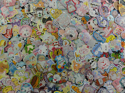 Loot / Surprise / Grab Bag: 90 pc flake stickers sack cute destash not sanrio