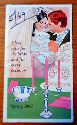 Gorham 1969 Silver 8 Panel Foldout  Brochure 'Gifts for the Bride'