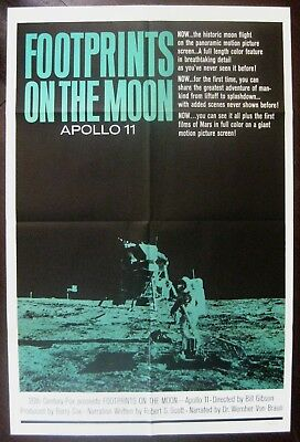 Footprints On The Moon 1969 The Story Of Apollo 11 Original US One Sheet Poster