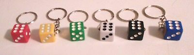 Key Chain--Dice-14mm (Choice of Color)