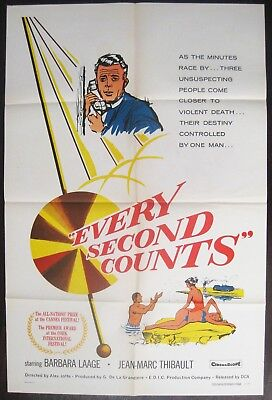 Every Second Counts 1957 Barbara Laage Original US One Sheet Poster