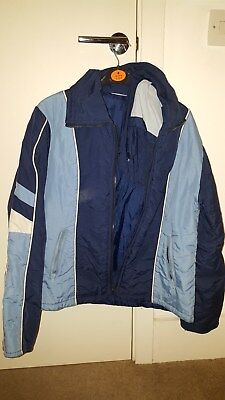 vintage ski jacket, blue.  true vintage, bought in 95, perfect condition