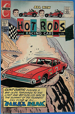 Hot Rods and Racing Cars No 115 Charlton July 1972 Jack Keller, Silver Age Comic