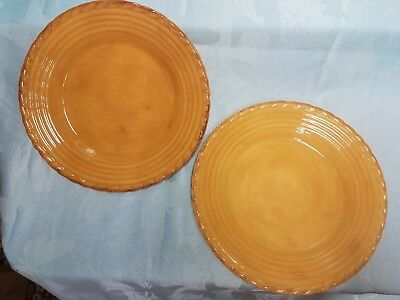ARTIMINO TUSCAN COUNTRYSIDE Dinner Plates Yellow - $34.95   PicClick