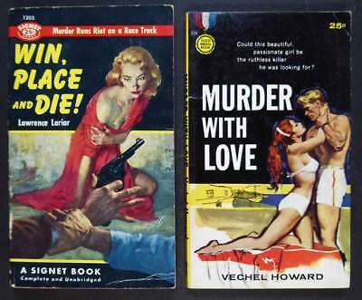Lot Of 2 Vintage Paperbacks With Sexy Cover Gals 1955, 1959