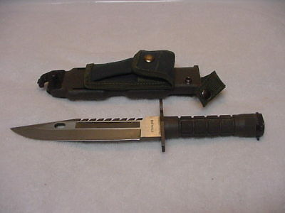 M9 TypeStainless Steel Blade  Bayonet Fighting Knife w/ Scabbard