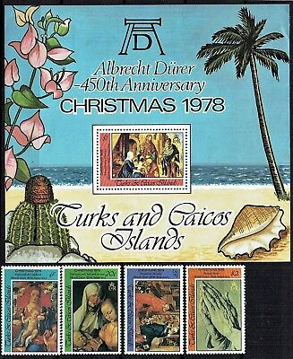 Turks & Caicos Is.1978.christmas Set & Mini Sheet. Mnh As Is See Scan