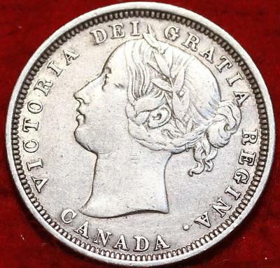 1858 Canada 20 Cents Silver Foreign Coin