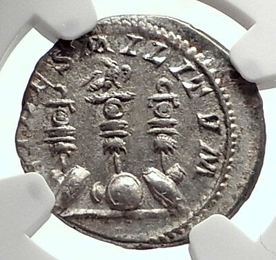 ELAGABALUS Authentic Ancient 221AD Rome  Silver Roman Coin STANDARDS NGC i72104