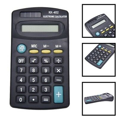 Electronic Calculator Mini 8 Digit Battery Solar Powered School Office Work Exam