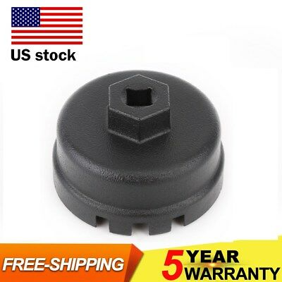 Engine 64MM 14 Flute Oil Filter Cap Wrench Tool FOR Toyota Lexus Scion 2.5L-5.7L