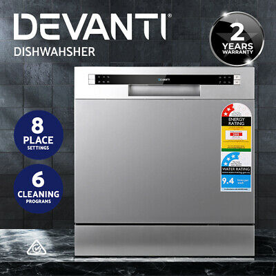 Devanti Benchtop Dishwasher 8 Place Setting Counter Bench Top Freestanding SR
