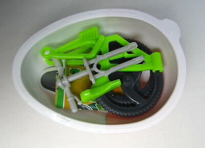 Kinder Joy Collectible Green Bicycle Toy (NEW)