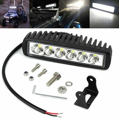 6inch 30W LED Work Driving Light Bar Cree Flood Beam Offroad 4WD SUV Reverse 4x4