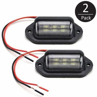 2x 6LED 12V License Number Plate Light Tail Rear Lamp For Truck Trailer Lorry SB