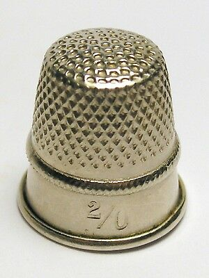 Fingerhut Thimble aus Metall - Gr. 2/0 - 16 mm
