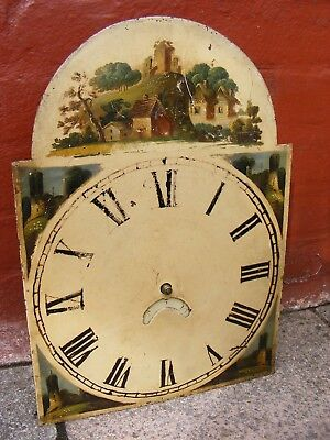 ANTIQUE 18/19thC LONGCASE STRIKING CLOCK MOVEMENT AND DIAL.