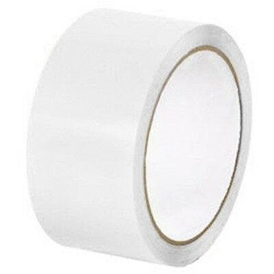 (6 Roll) White Colored Packing Tapes 2 Inch x 1000 Yards 2 Mil