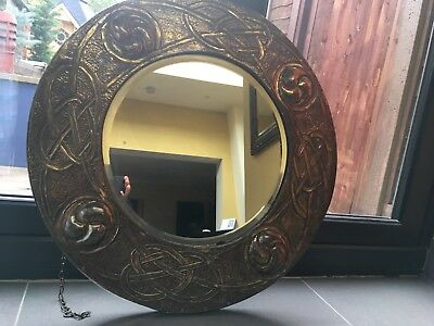 Large Arts & Crafts Brass Glasgow School Liberty Mirror No Reserve