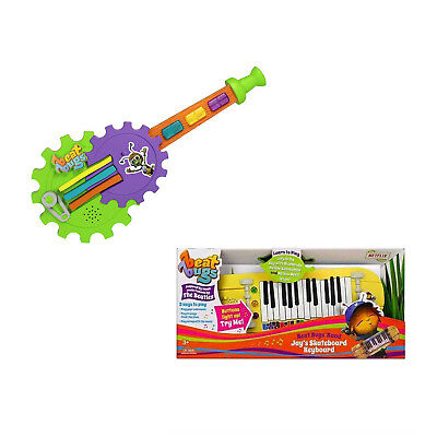 Beat Bugs Music Mentor Cricks Guitar Toy And Jays Skateboard Keyboard Ages 3+