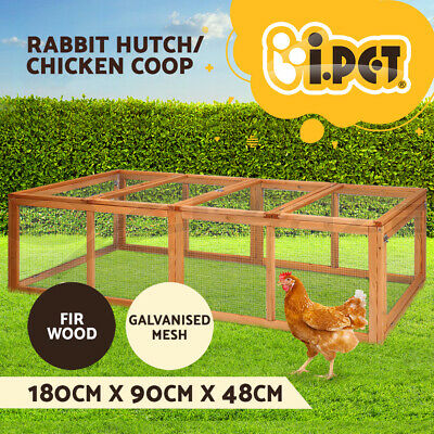 i.Pet Wooden Chicken Coop Coops Extra Large XL Rabbit Hutch Hen Chook House Run