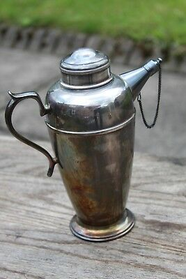 Antique Silver Plated Cocktail Shaker Art Deco Era By Crusader