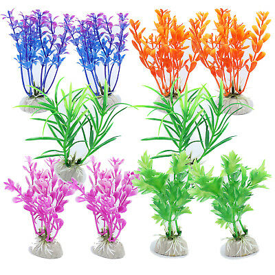 10X Mixed Artificial Water Plastic Plant Fish Tank Grass simulation Decoration