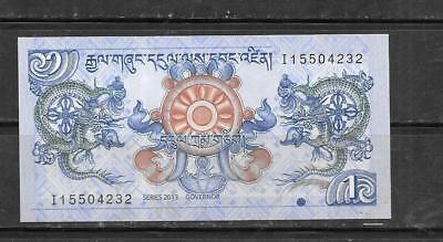 Bhutan 2013 Mint Crisp New Ngultrum Currency Banknote Bill Note Paper Money