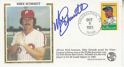 MIKE SCHMIDT hand signed 1983 FDC silk cachet first day cover autographed