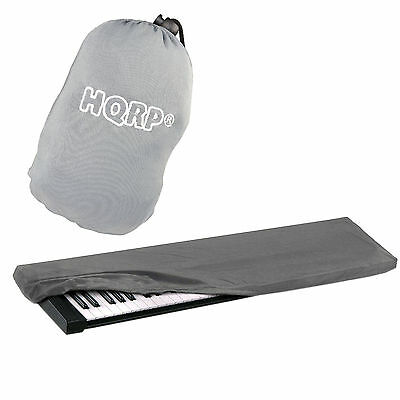 HQRP Elastic Dust Cover Case w/ Bag (Gray) for Yamaha Series 76-88 Keys Keyboard