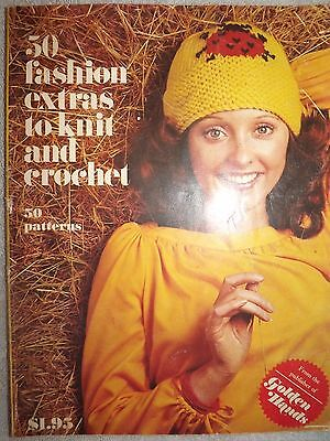 1972 -  50 Funky Fashion Extras To Knitting Crochet Retro Book Pattern