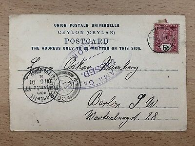 Ceylon Old Postcard Multiview Colombo To Germany 1901 !!