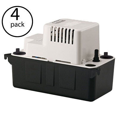 Little Giant VCMA-20ULS 1/30 HP 1/2 ABS Gallon Condensate Removal Pump (4 Pack)