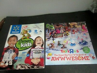 2 , 2016 Toy  Store  Catalogs  - Toys Are Us &  Walmarts Chosen By Kids Catalog