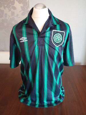 CELTIC Original 1992 UMBRO Away Shirt UNSPONSORED X-Large Rare Vintage Glasgow