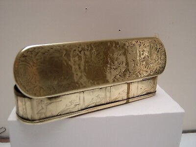 A Brass Snuff Box/pen Case Which Belonged To Sir Henry Wood