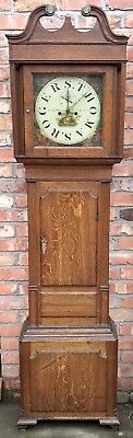 Antique Long Case Grandfather Clock Thomas Ellen Rogers Llingerniw Advertising