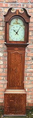 Oak And Mahogany Banded Longcase Grandfather 30 Hour By Tho Fletcher  Barnsley