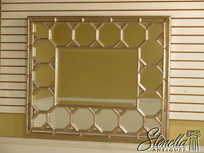 28258E: Silver Paint Decorated Rectangular Decorator Wall Mirror