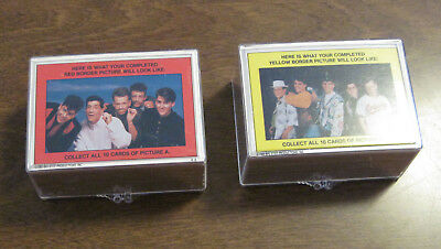 1989 Topps New Kids On The Block Two Complete Card Sets 1 Red & 1 Yellow Puzzle
