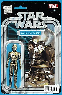STAR WARS #5, ACTION FIGURE VARIANT, New, First print, Marvel Comics (2015)
