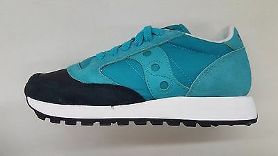 detailed look afb38 7d54a SAUCONY JAZZ ORIGINAL Aqua Black Toe Womens Size Running Sneakers S1044-407