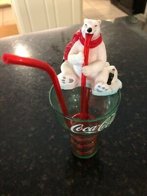 Coca Cola Drink Buddy Cup with Drinking Polar Bear