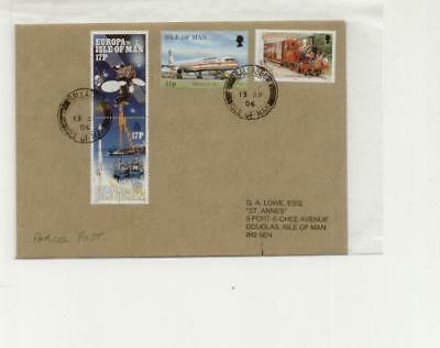 Isle of Man 2006 Ballabeg cancelled parcel post rate cover