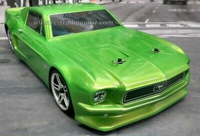 Custom Painted Body 1968 Ford Mustang for 1/10 RC Drift Cars Touring HPI 200mm