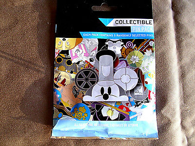 Disney * MICKEY & FRIENDS STEAMPUNK HATS * New & Sealed * 5-pin Mystery Pin Pack