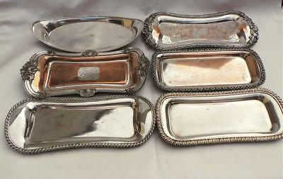 Superb Collection Of 6 X Georgian Old Sheffield Plate Silver Mount Snuffer Trays