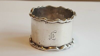 A Stylish Hevy Solid Silver Napkin Ring Engraved F  Sheffield 1933   36grams