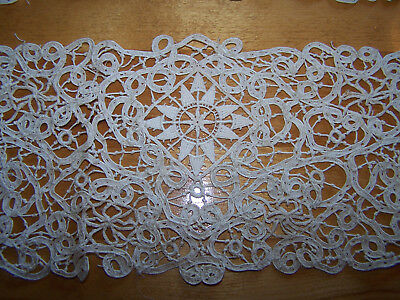 "2 victorian 22"" X 5""  antique Lace trim Bobbin ?"